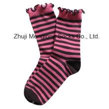 Schicke Mädchen Baumwolle Socken mit Falten Manschette