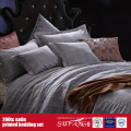 100%Cotton 200TC Satin Printed Bedding Set Hotel Linens Suppliers