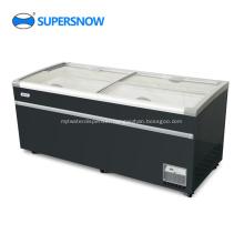 4 top glass door chest freezer refrigerator
