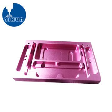 Caixa de alumínio roxo anodizado fresamento CNC
