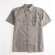 Khaki Kurzarm Herren Herren Tooling Pocket Shirt