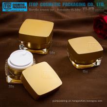 Série YJ-KD 15g 30g 50g octagonal quadrado acrílico frasco cosmético