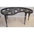 steam punk gear crank table kidney desk