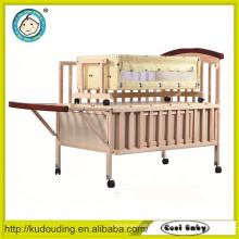 Hot venda europeia padrão bebê cama de madeira única cama desenhos
