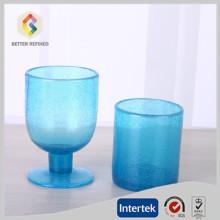 handgemachte Blase blau Glas Tasse Großhandel