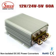 Fuente de alimentación del convertidor de la CC del coche de 12V / 24VDC a 5VDC 60A