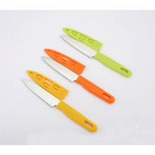 Stainless Steel Paring Knife, Fruit Knife with Sheath