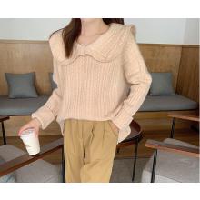 Super venda de suéter solto de gola francesa da moda