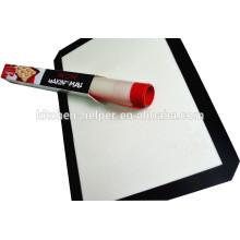 Atacado Fabricante Profissional Qaulity Alimento Grade Softly Non-stick Resistente ao calor Fiberglass Silicone Baking Mat