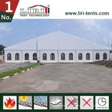 Aluminiumhochzeits-Zelte des Großverkauf-25X15 mit klaren PVC-Fenster-Seitenwänden