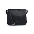 Mini Fashion Lady Black Zipper Crossbody Bolsos de cuero