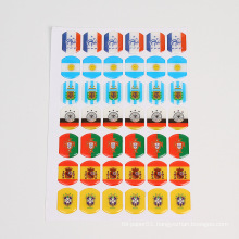customized 3d clear epoxy resin dome laser stickers