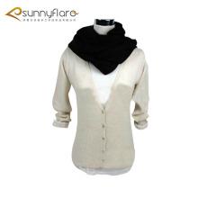 Suéter de la rebeca del cuello en v de la cachemira pura de las señoras