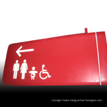 Stainless Steel Painted Washroom Access Route Sign