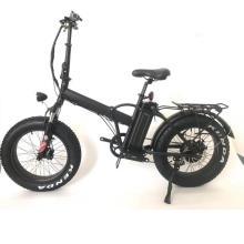 Bicicleta elétrica ebike de neve de 20 polegadas dobrável com pneu largo
