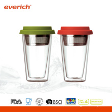 Nouveau produit à haute teneur en borosilicate Bpa Free Double Wall Glass Cup