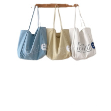 Customized printed Eco-friendly 100% cotton crossbody calico canvas shopping cotton tote bag