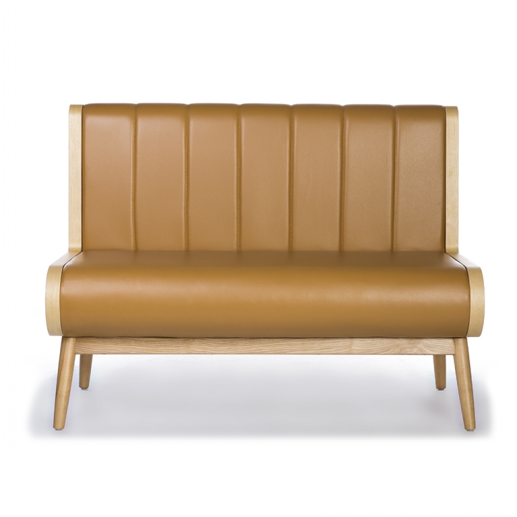 Solid Wood Restaurant Booth Sofa
