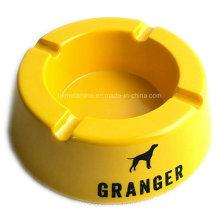 Желтый меламиновый круглый пепельница с логотипом