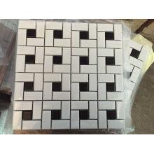 Mosaico de cristal de cerámica negra de la mezcla blanca