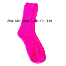 Señora Microfiber Fuzzy Calcetines Calcetines Mujer Hilo De Hilo