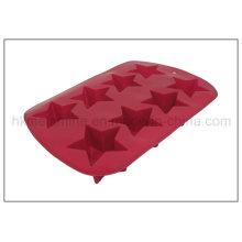 8 pilhas em forma de estrela molde de bolo de silicone (RS26)