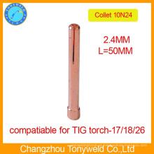 10N24 2.4mm TIG peças de soldagem cola de cobre