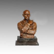 Büsten Statue Kleine Picasso Bronze Skulptur, Milo TPE-810