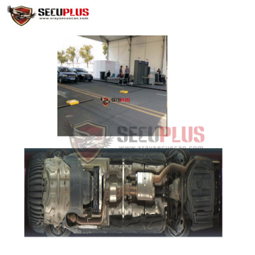 airport vehicle chassis security scanning system with ALPR and driver camera for airport