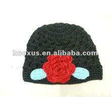 Детские шапки детские шапки вязание шляпы beanies цветок шляпа ребенок крючком шляпа шапка вышивать Hat