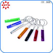 High Quality Custom Shiny Colorful Whistles Keychains