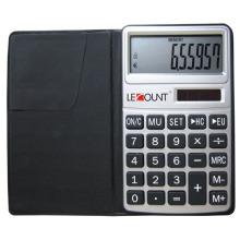 Calculatrice à 10 chiffres avec fonction euro-convertisseur et porte-monnaie noir (LC303EURO)