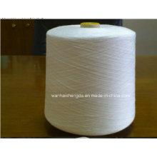 42/2 Raw White sur tube en plastique Tfo Virgin Bright 100% fil de polyester filé