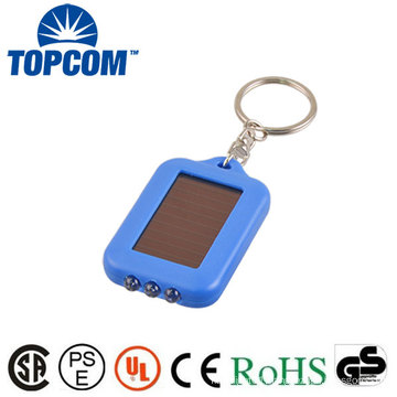 Factory Price 3 LED Energy Saving Rechargeable Solar Powered LED Keychain