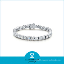 AAA Grade CZ Stone Silver Jewelry Bracelet (SH-B0009)