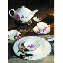 A058 Antique round western porcelain tableware set with decal