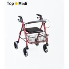 Topmedi Medizinische Ausrüstung Falten Aluminium Roller mit Korb