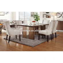6 person wooden restaurant table set XYN1488