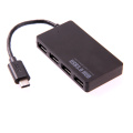 Pour le nouveau MacBook Type C Hub USB 3.1, ultra-mince USB 3.1 Type-C Male to Multiple 4 ports USB 3.0 Hub Adapter