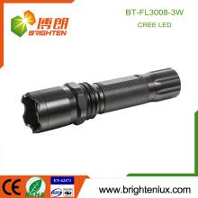 Factory Hot Sale 3 * AAA à la batterie en aluminium 3 modes de lumière Zoom Focus 3W Cree XPE led 2013 Police Flashlight avec Strobe