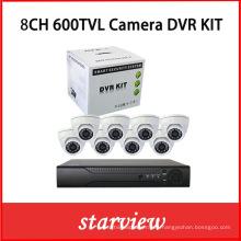 8CH 600tvl Cámara DVR Kit