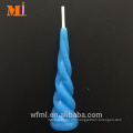 Top Supplier Pure Paraffin Light Blue Unicorn Candle Birthday Cake Topper