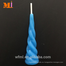 Top Supplier Pure Paraffin Light Blue Unicorn Vela Pastel de cumpleaños Topper