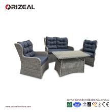 Ensemble de sofa de Reine de dos de rotin extérieur de 4PCS OZ-OR064
