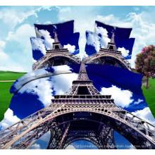 Eiffelturm 3D Planel Druckgewebe für Bedsheet