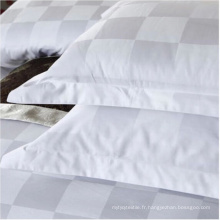 Tissu 100% coton blanc de haute qualité