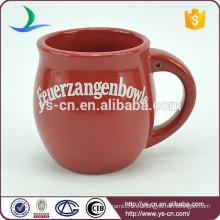 YScc0025-01 Taza de cerámica roja de cerámica de gres de Navidad