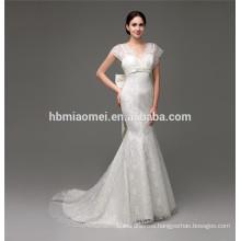 Flower Appliqued ball gown wedding dress online shop
