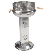 Landmann Stainless Steel Pedestal Charcoal BBQ Grill with Ash Catcher