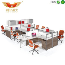 High Quality Modern 8 Seater Office Staff Workstation Partition (HY-P02)